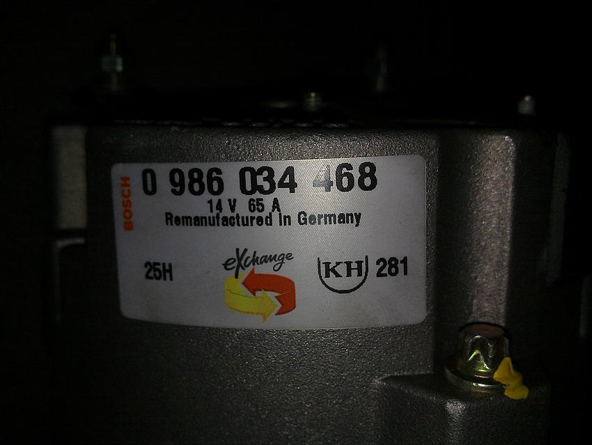 Berühmt Bosch Lichtmaschine 14V 65A als Generator - Mikrocontroller.net #QK_55
