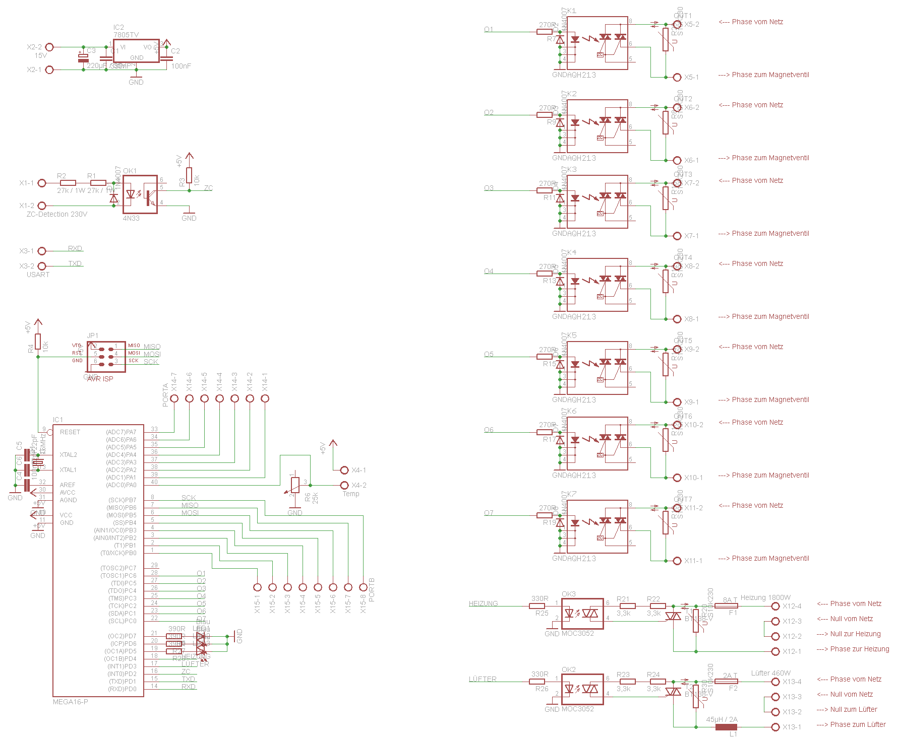 Mikrocontroller steuert SSR und Triacs - Mikrocontroller.net