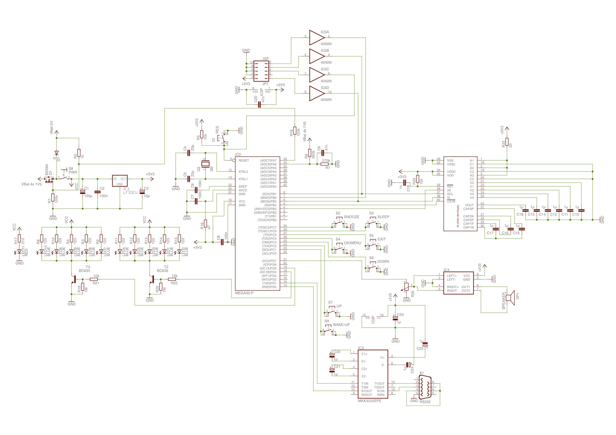 Schaltplan für Wecker - Mikrocontroller.net