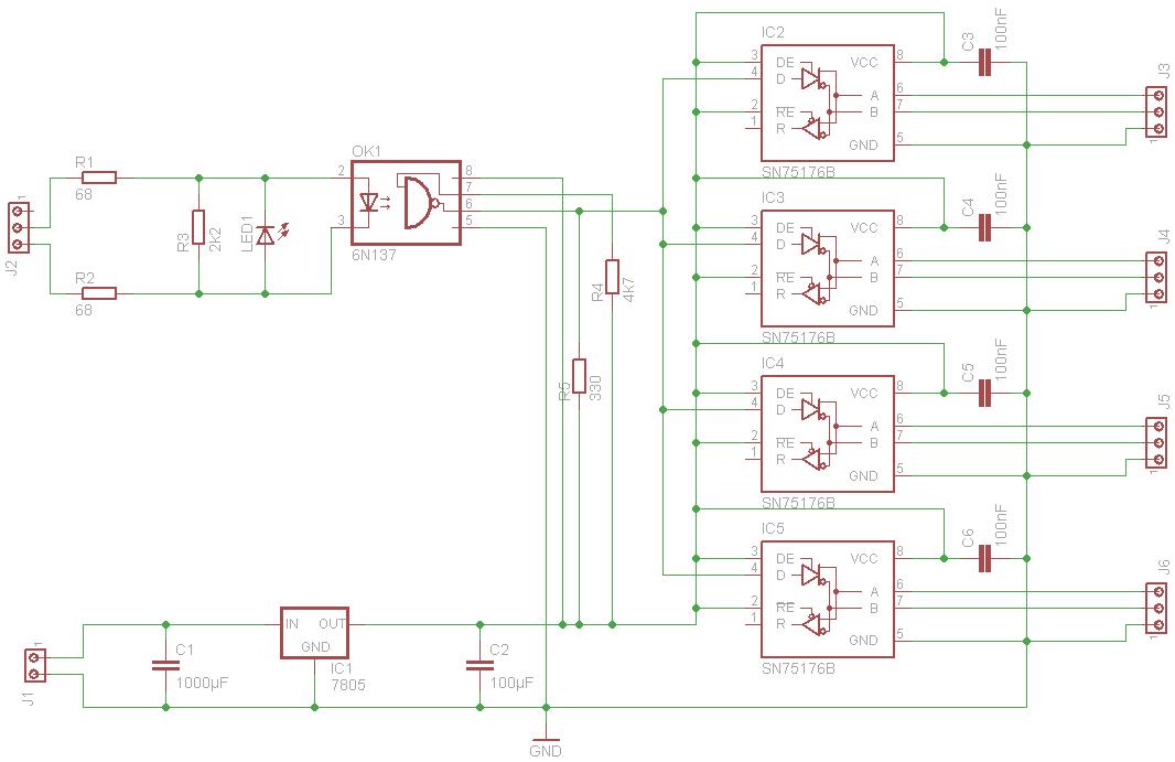 DMX Spliiter und Booster - Mikrocontroller.net