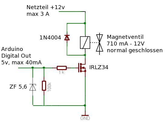 Magnetventil ansteuern - Mikrocontroller.net