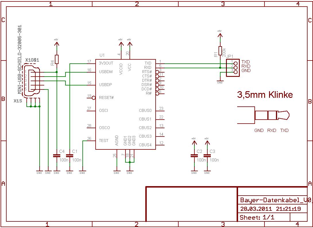 usb ftdi ttl  cable ttl   selber bauen