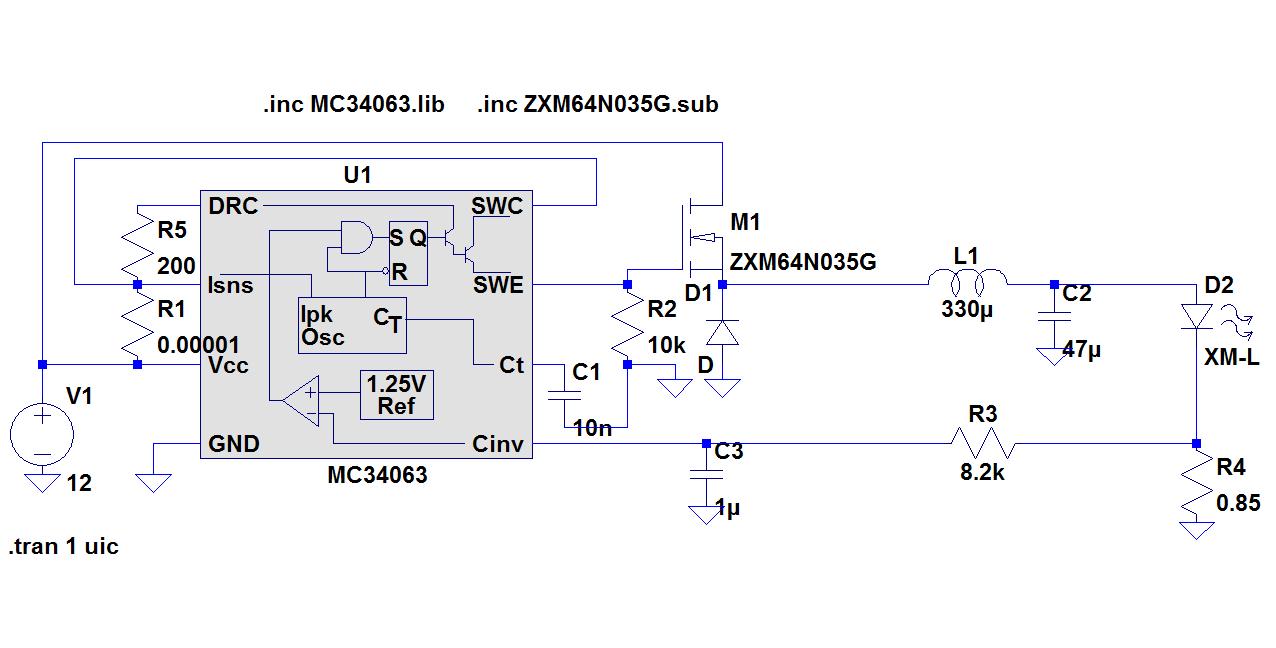 Brauche Hilfe Mit Led Datenblatt Von Cree Konstantstromquelle Fuer Power Mikrocontrollernet Preview Image For Circuit Mc34063 Indu
