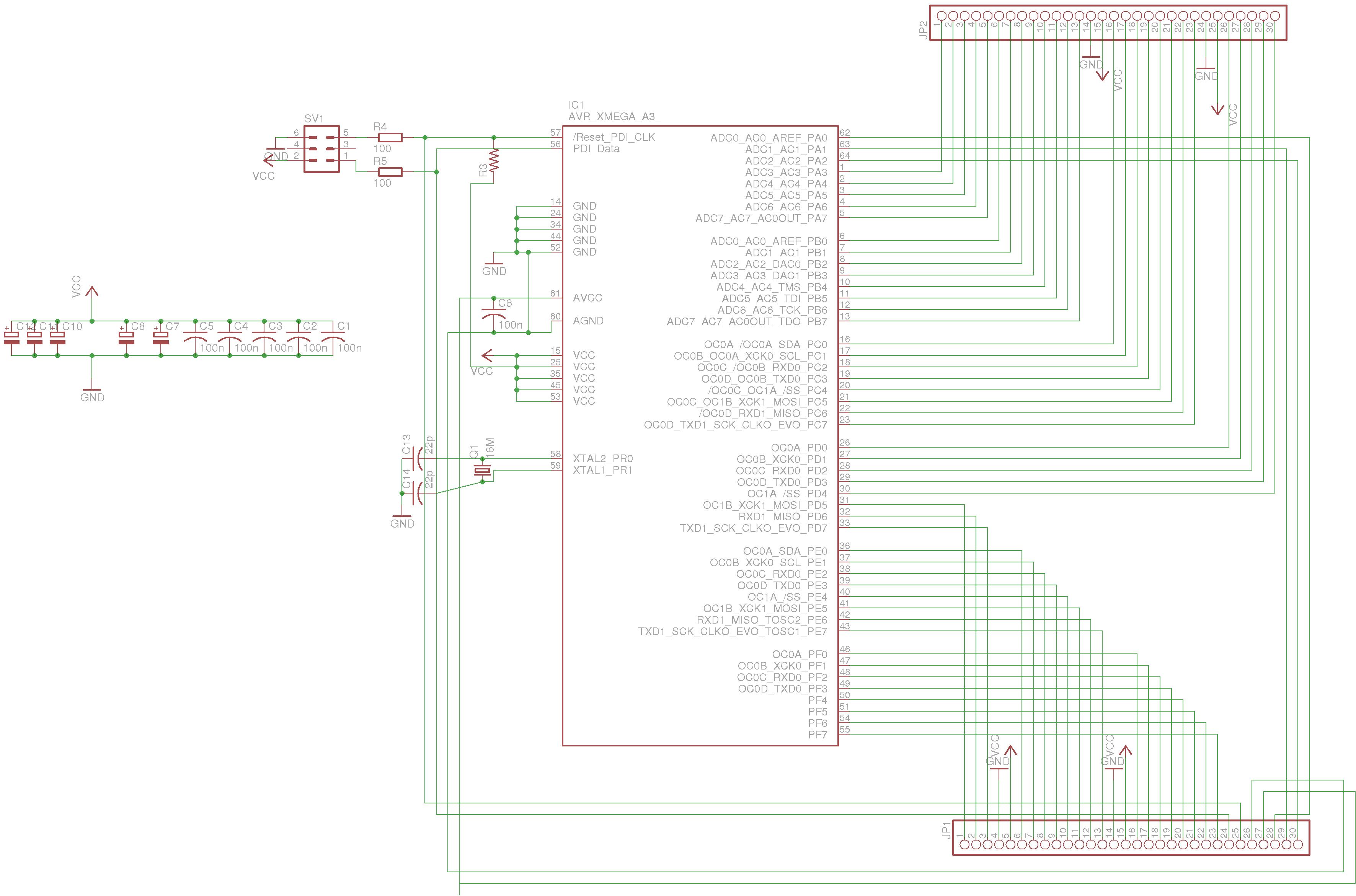 breakout board f u00fcr xmega192a3 mit fehler