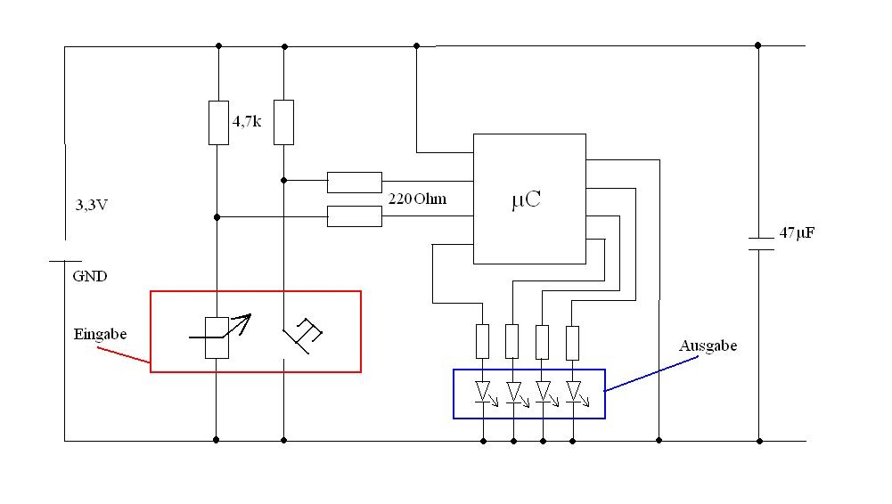 Erste Mikrocontrollerschaltung - Mikrocontroller.net