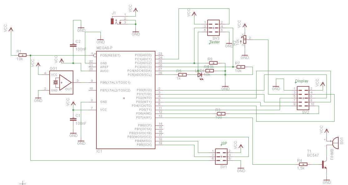 Schaltplan und Layout Biercounter checken - Mikrocontroller.net