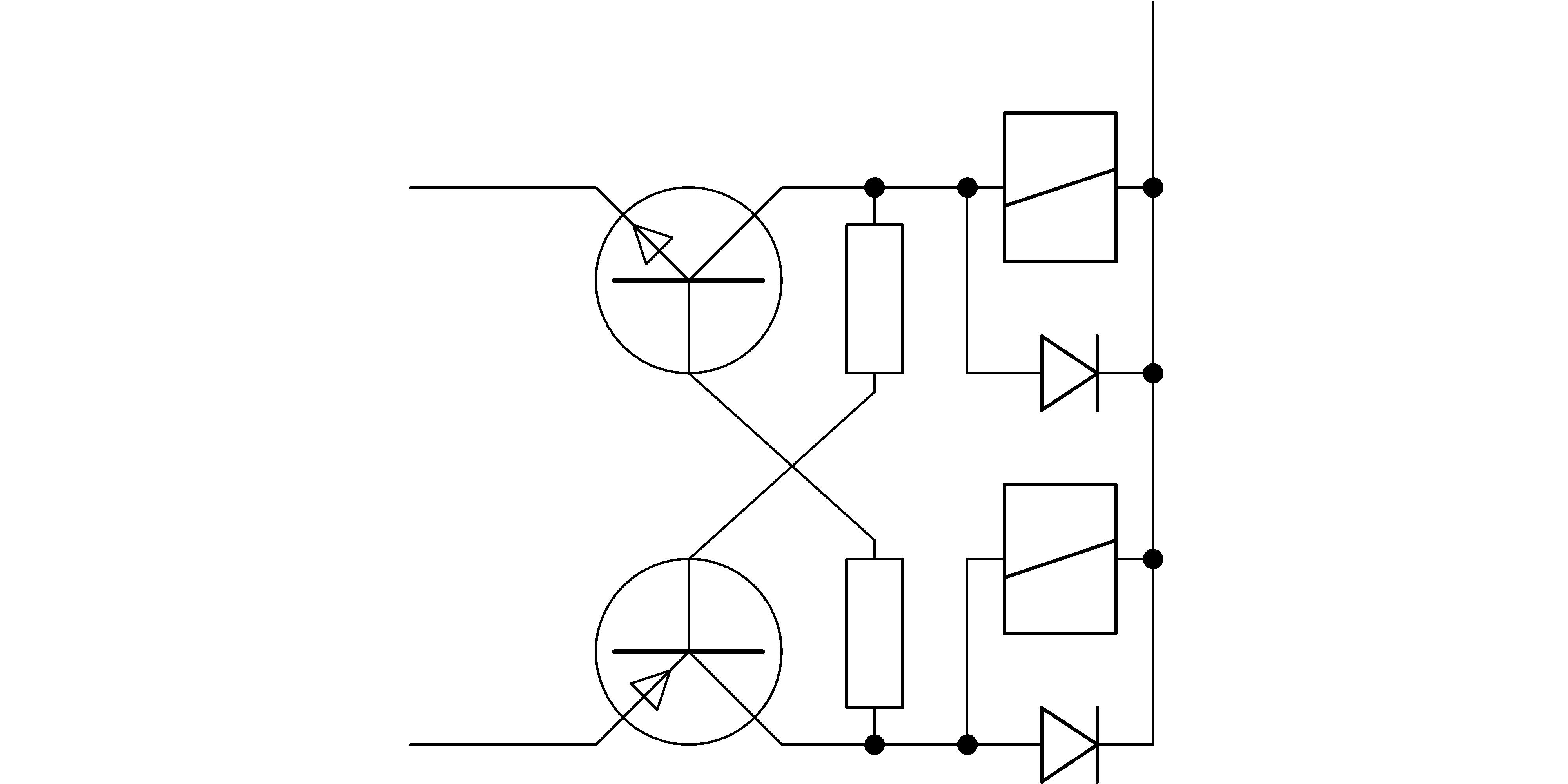 relais gegeneinander verriegeln