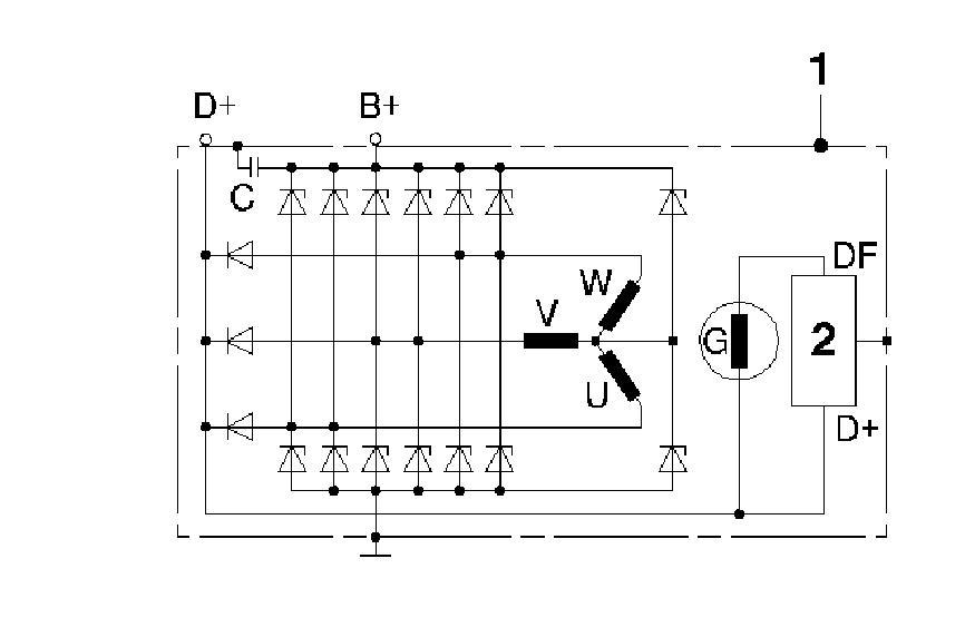 Großartig Vw Bosch Lichtmaschine Schaltplan Galerie - Elektrische ...
