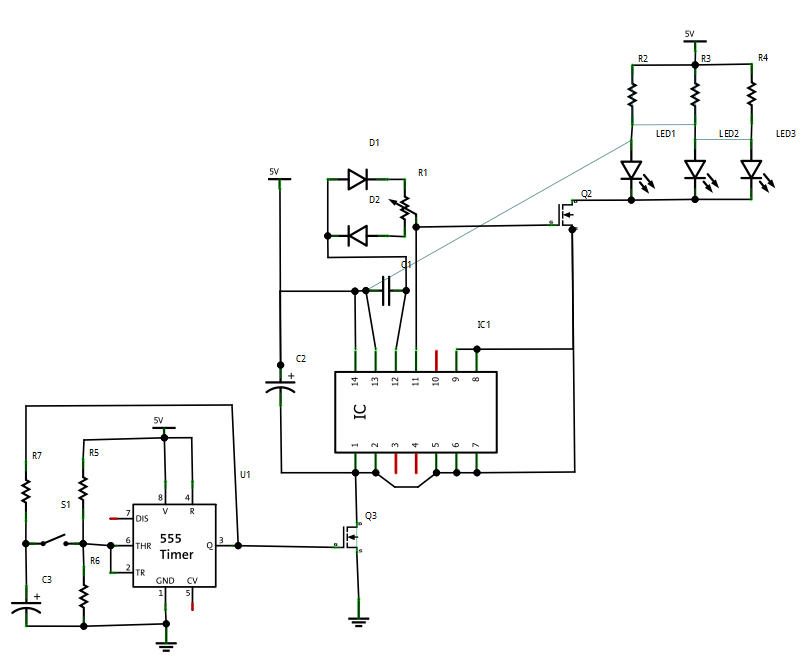 led dimmer pwm - transistor    mosfet