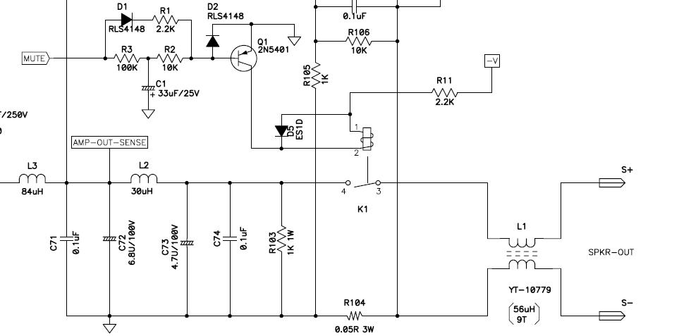 Fehlersuche: Subwoofer Mute-Relay-Schaltung - Mikrocontroller.net