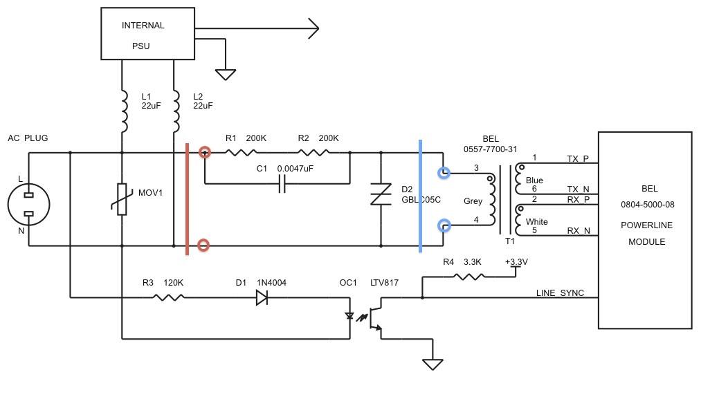 Ethernet über 2adrige Telefonleitung. Idee: Billige Powerline ...