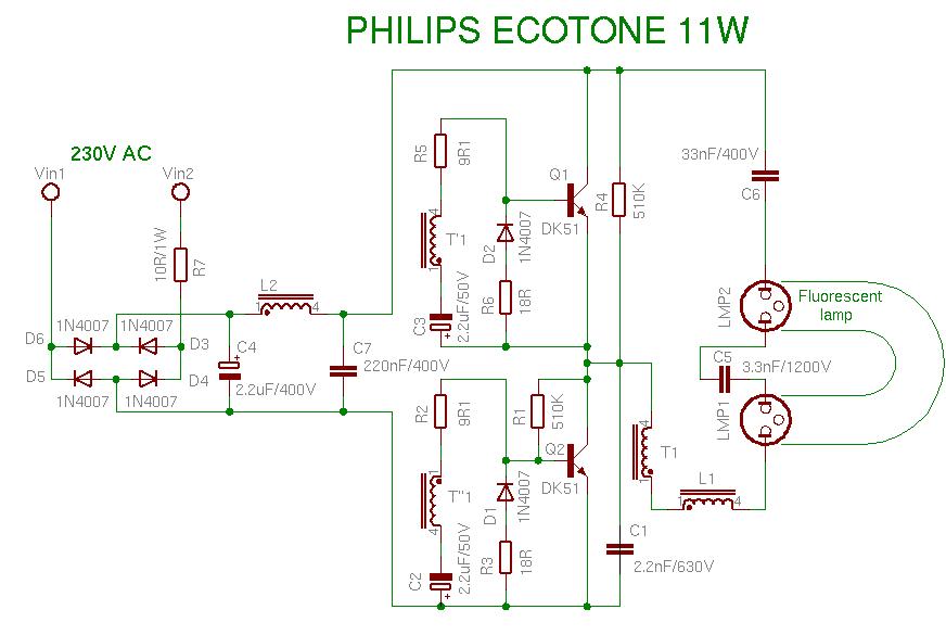 Bauteile Aus Energiesparlampe Schaltung Mikrocontroller Net