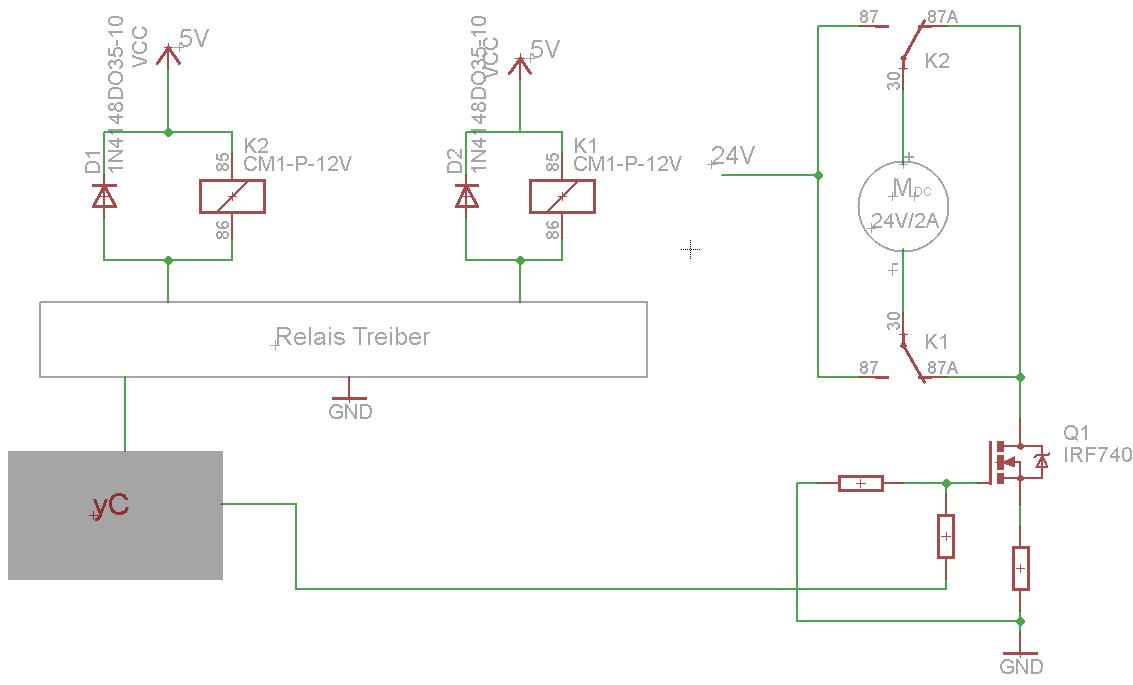 Rechts Linkslauf mit Relais - Mikrocontroller.net