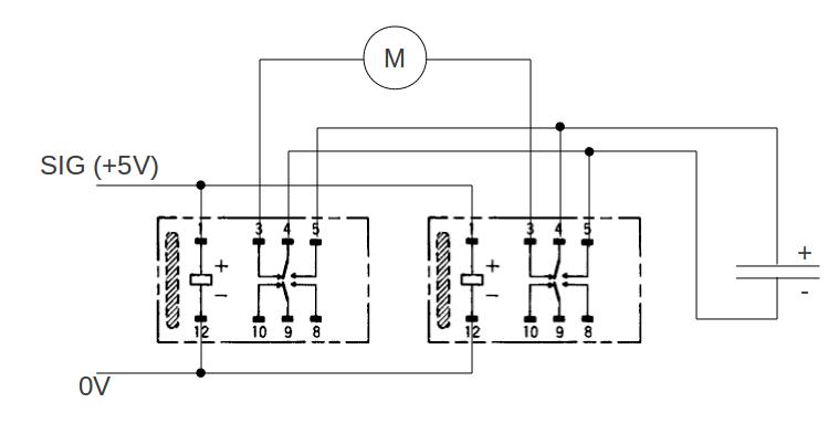 Umpolen mit monostabilem Relais mit 2 Wechsler - Mikrocontroller.net