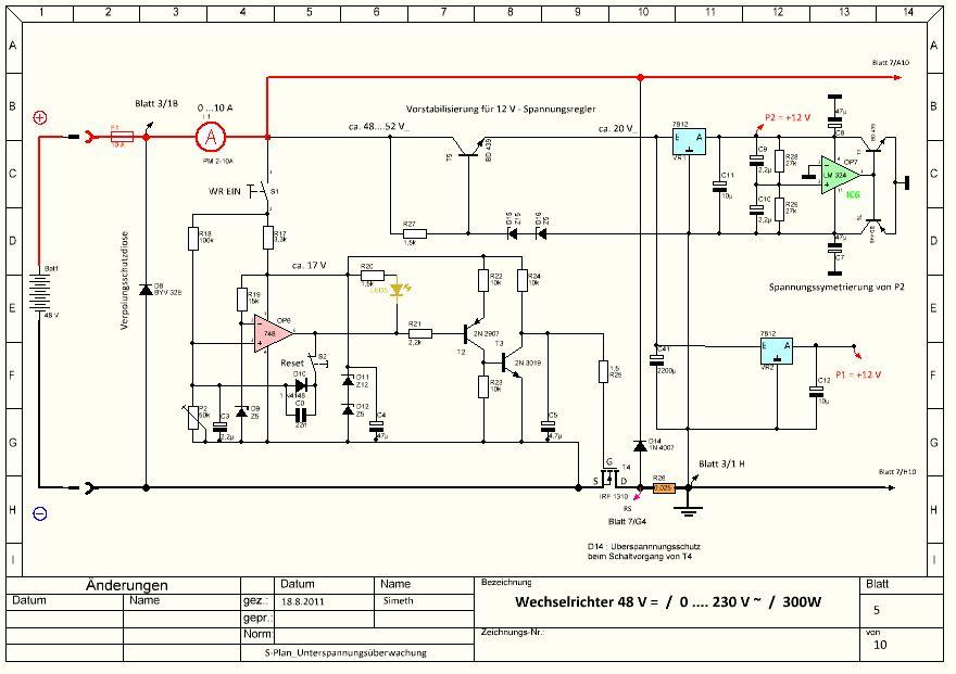 Gemütlich Schaltplan Für Wechselrichter Ideen - Der Schaltplan ...