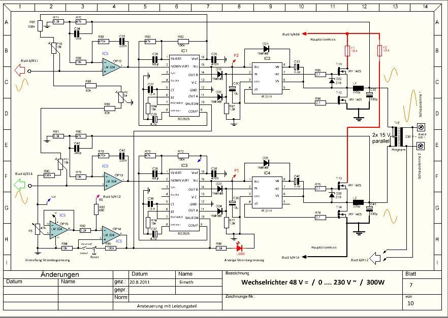 Nett Schaltplan Für Ziele Wechselrichter Picoglf60w24v240vs ...