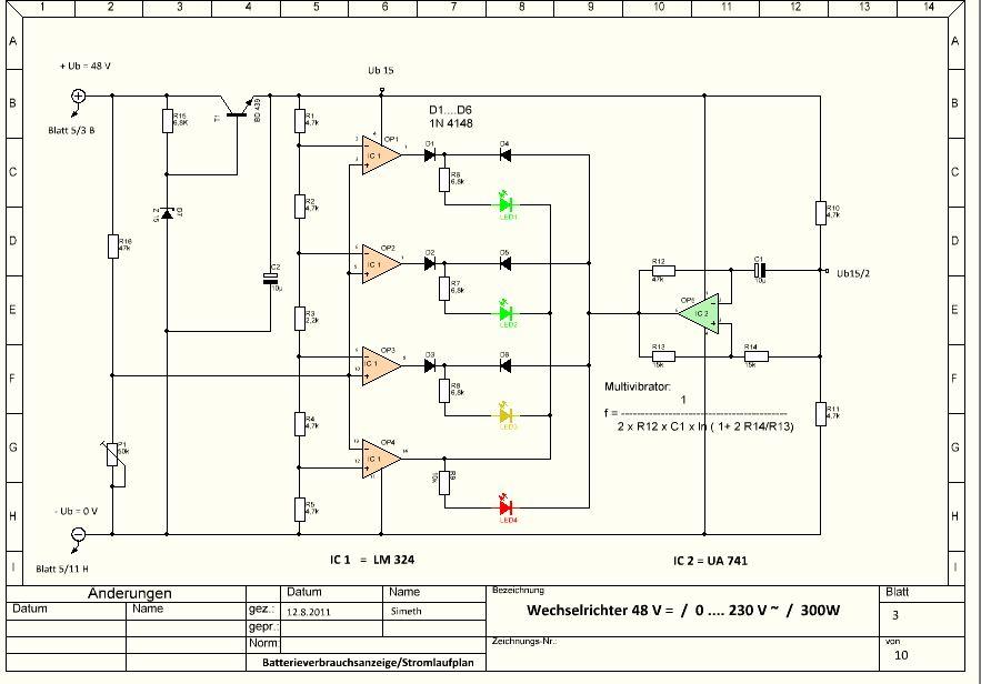 Atemberaubend Schaltplan Für Ziele Wechselrichter Picoglf60w24v240vs ...