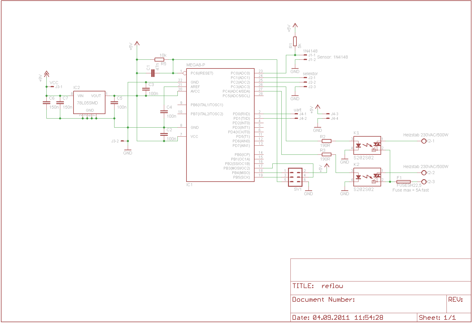 Schaltplan Review: Reflowofen - Mikrocontroller.net