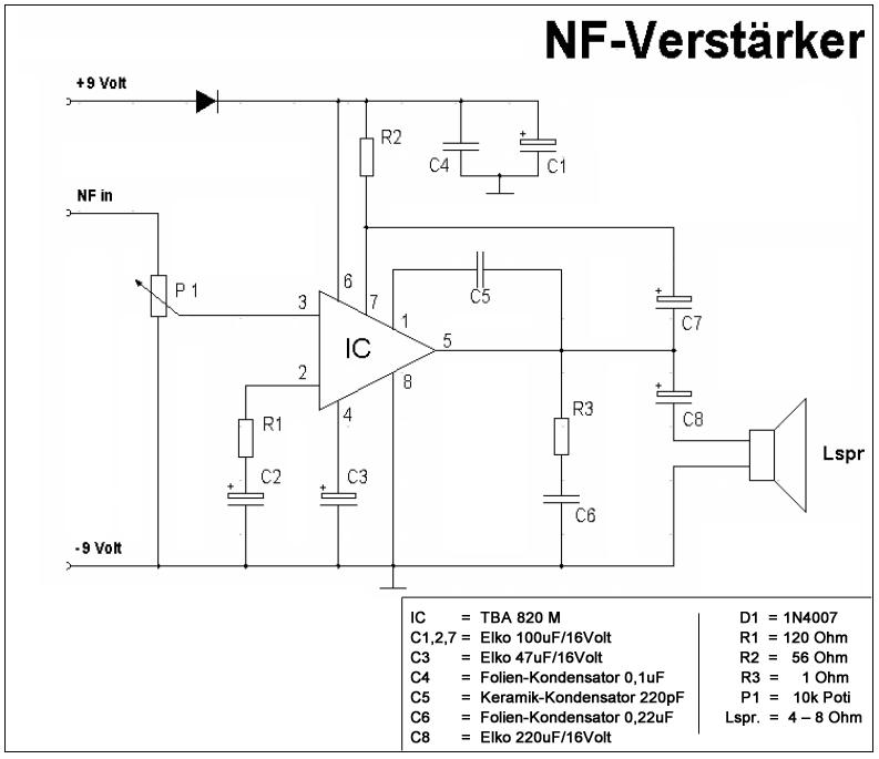 TDA7000 und NF Verstärker (TBA 820 M) - Mikrocontroller.net