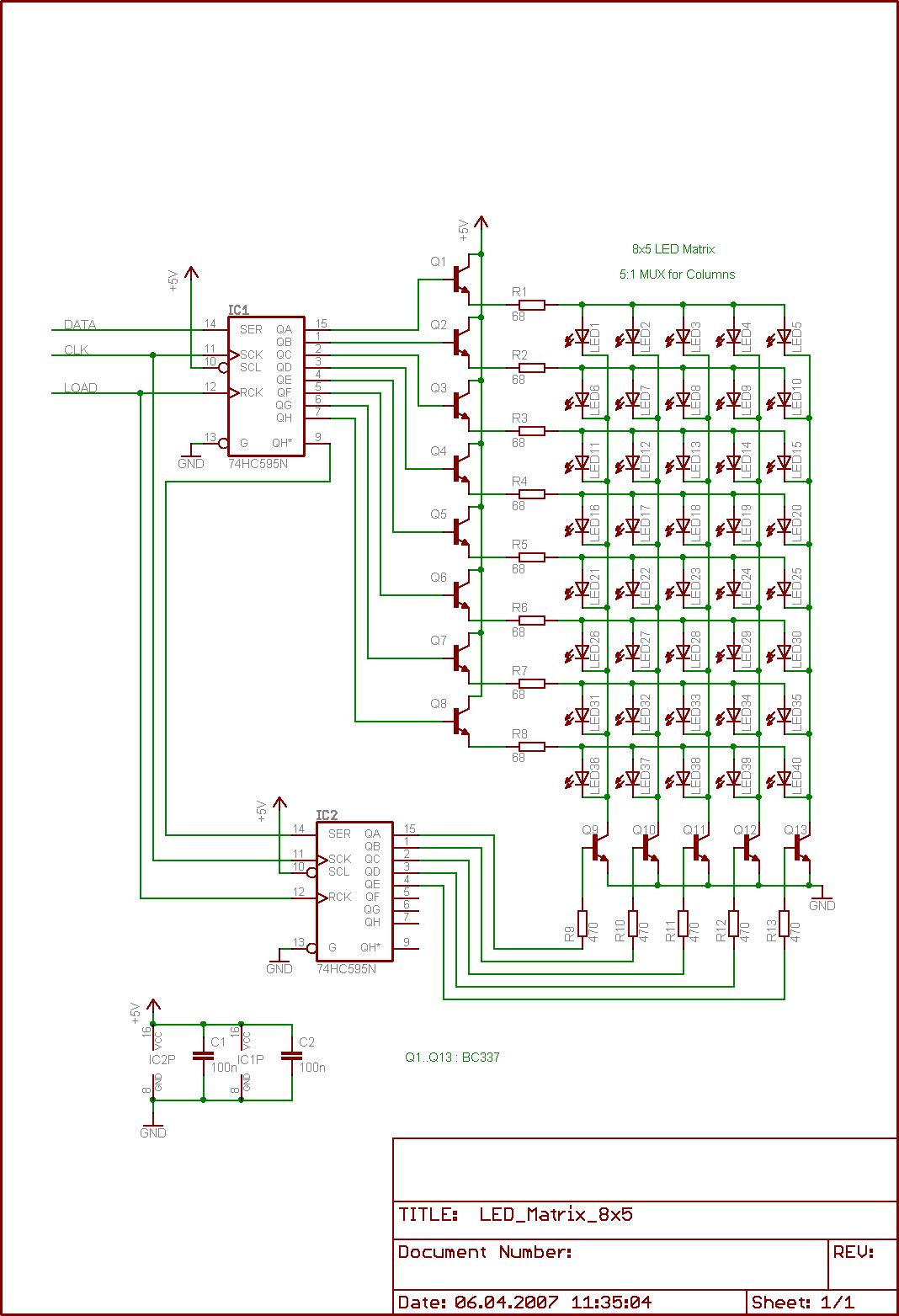 74hc595 Mit Einem 8051 Ansteuern