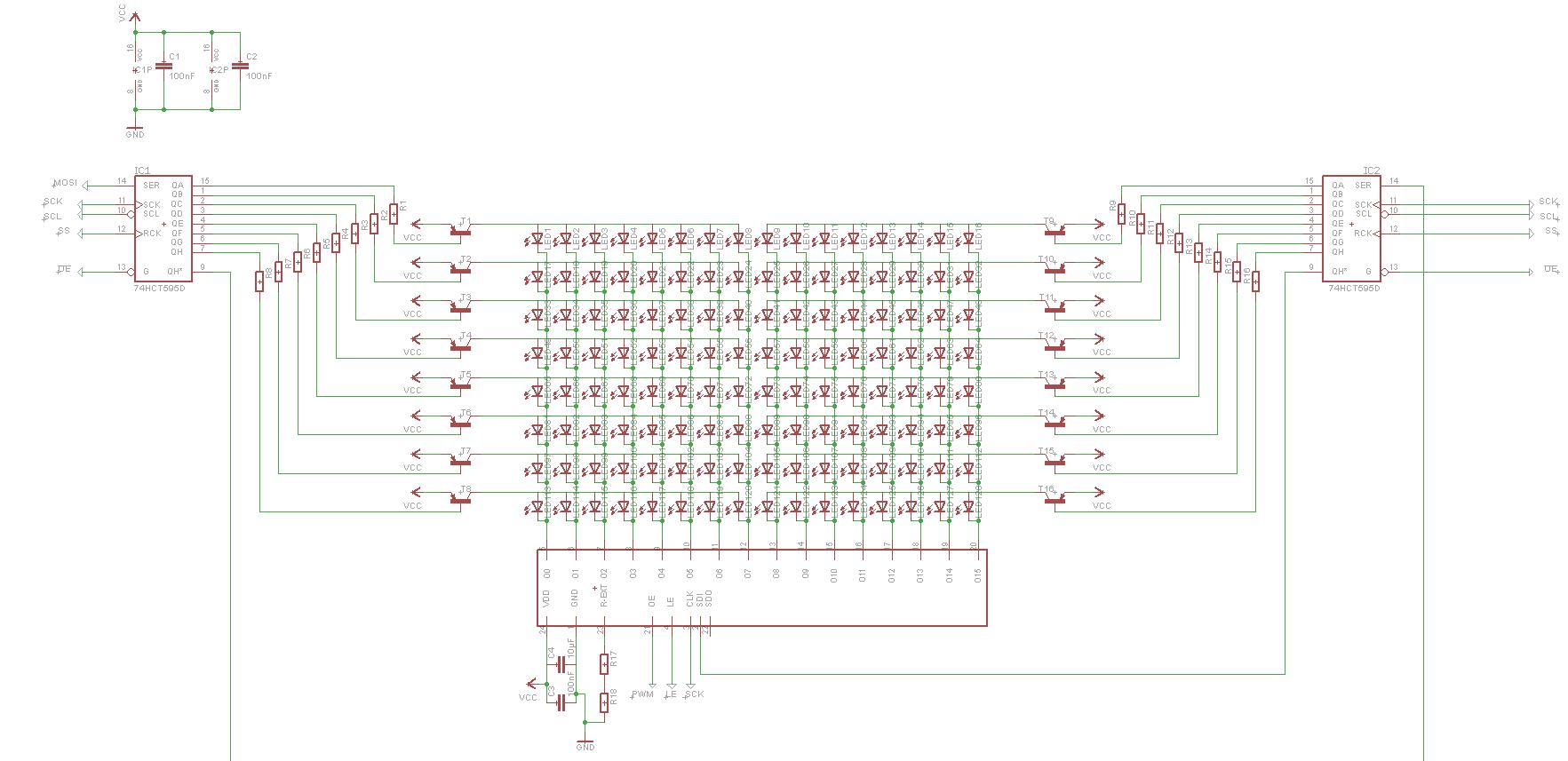 led matrix mit stp16cp05. Black Bedroom Furniture Sets. Home Design Ideas