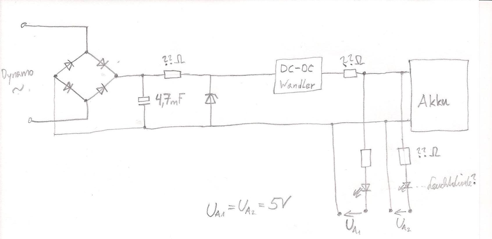 laderegler bauen mit dem anhand eines dynamos ein handy oder navi mit strom versorgt werden kann. Black Bedroom Furniture Sets. Home Design Ideas