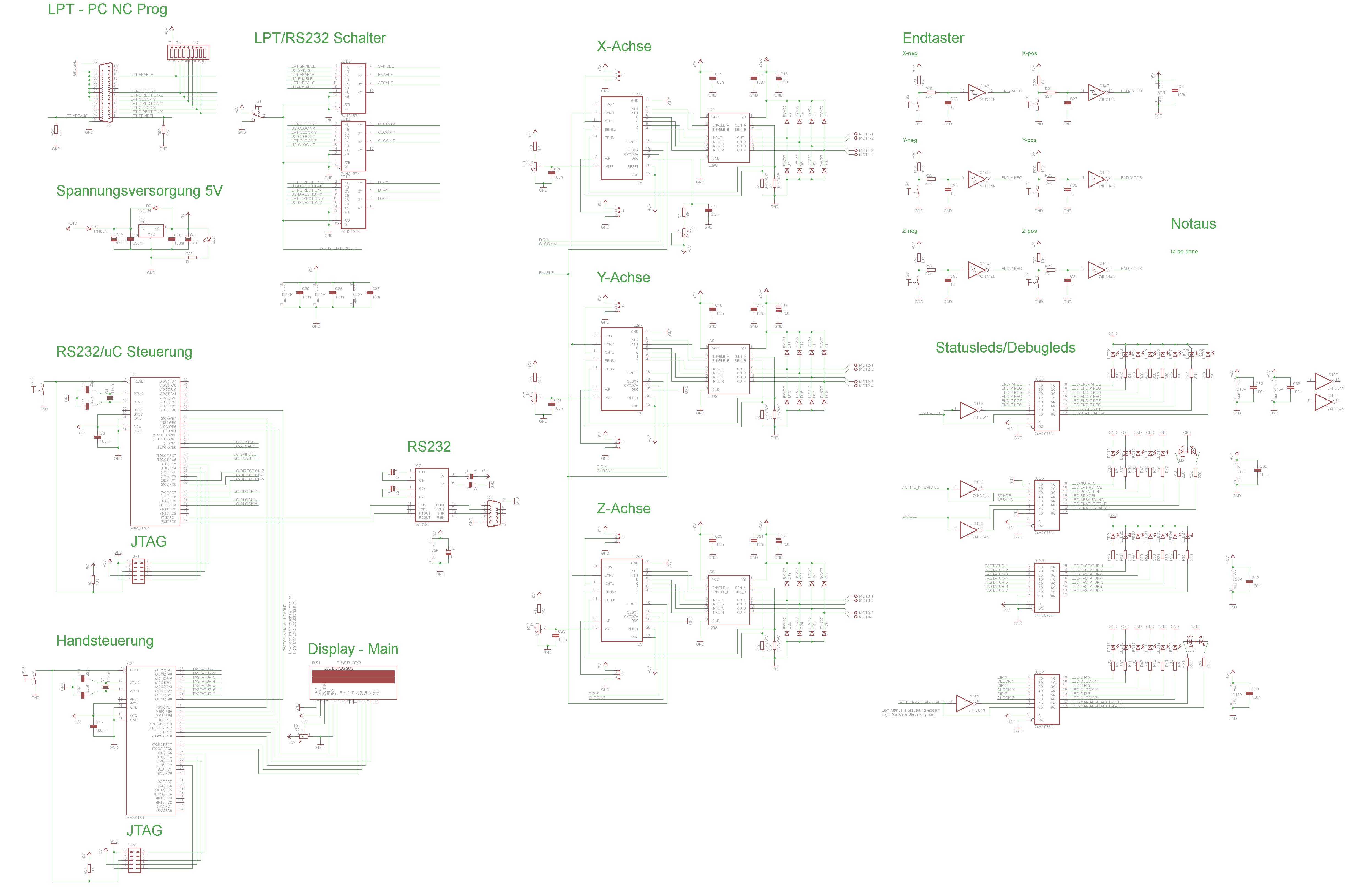 Entwurf Schrittmotorschaltung (CNC) mit µC und LPT sowie ...