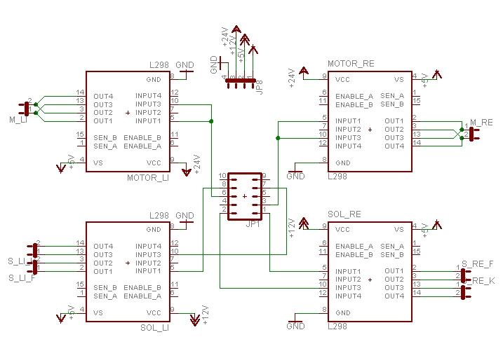 Motorsteuerung mit L298N - Schaltplan/Platine - Mikrocontroller.net
