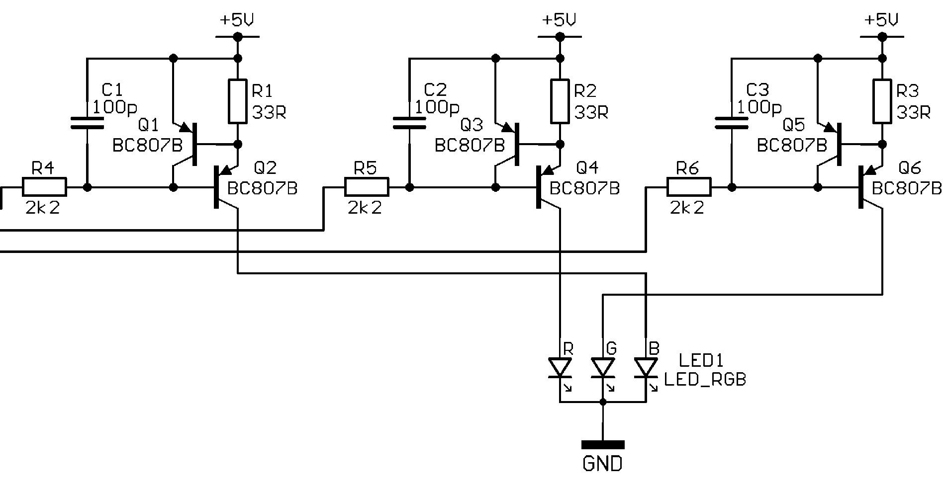 rgb led an mikrocontroller. Black Bedroom Furniture Sets. Home Design Ideas