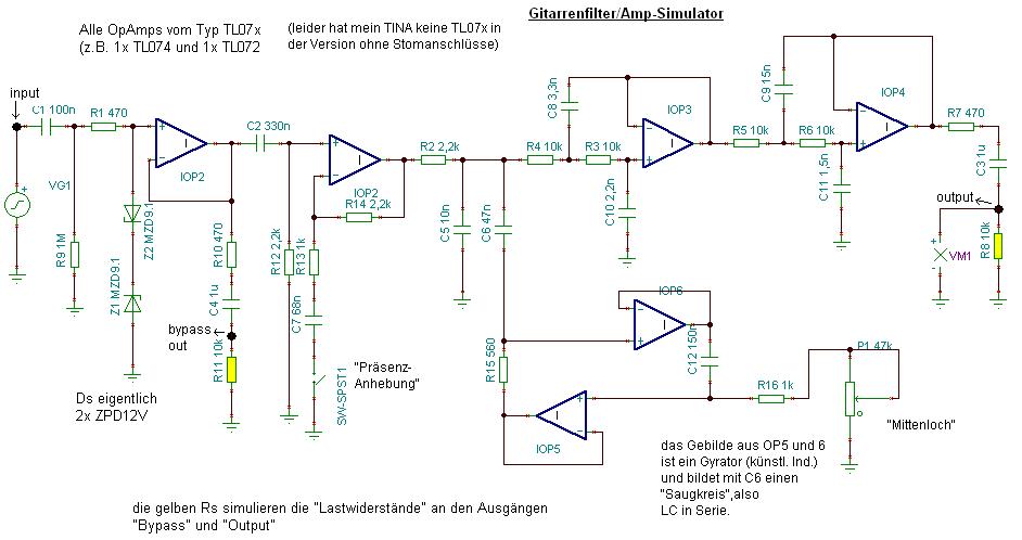 Spezialfilter für E-Gitarre - Mikrocontroller.net