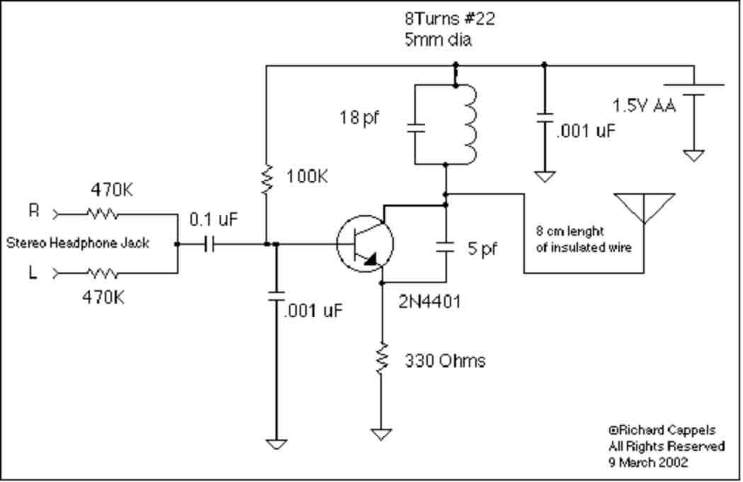 UHF Sender f  r Radio auf B  hne  Mikrocontroller
