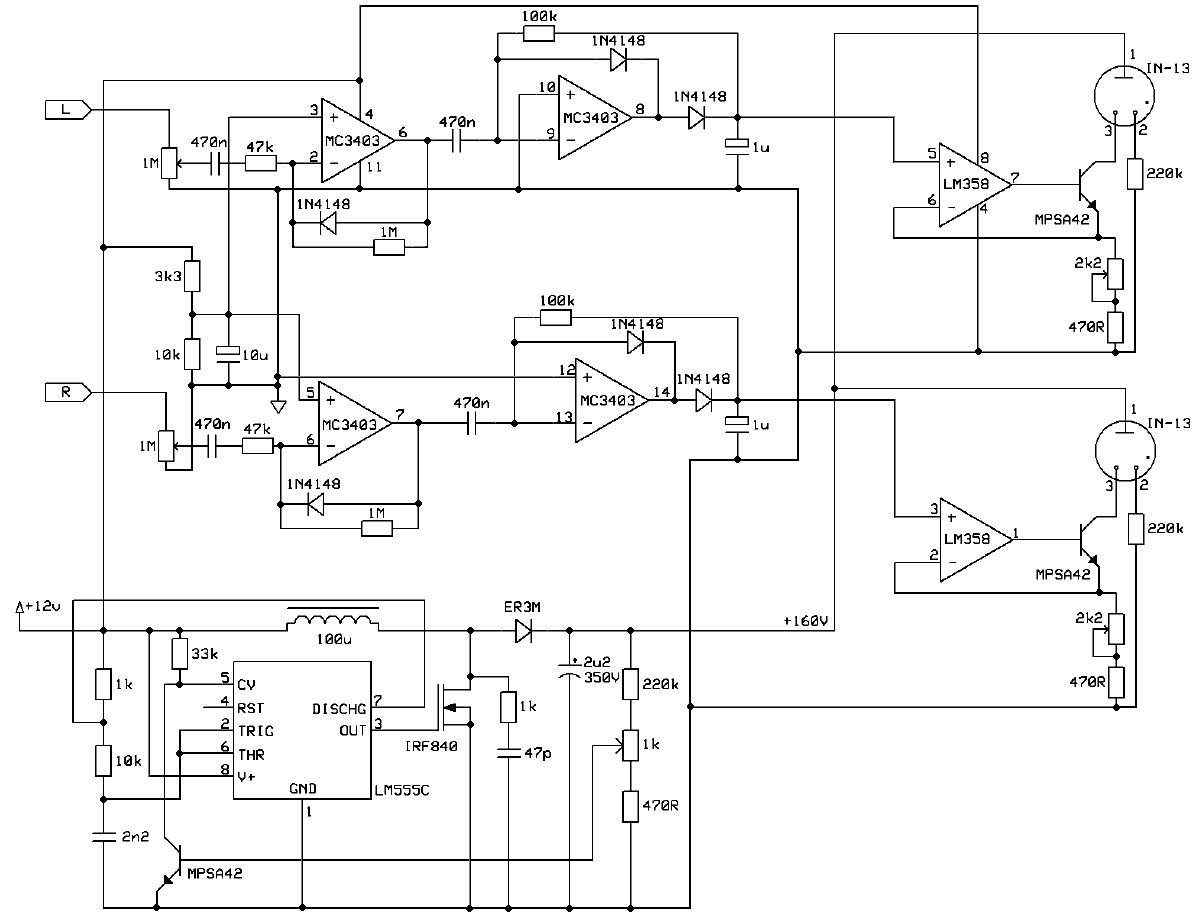 Vu Meter Schaltung This Is A Simple Circuit Diagram Of 5led Audio Using Ic Preview Image For In 13 Driver