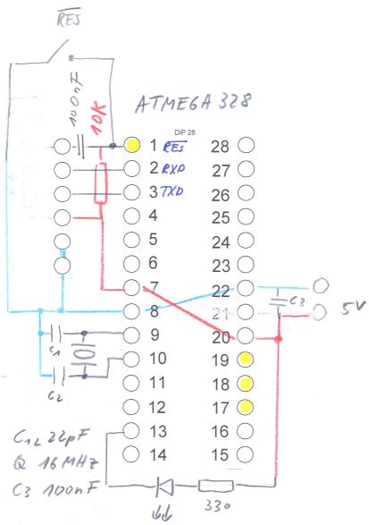 ATMega328 Minimalbeschaltung - Mikrocontroller.net
