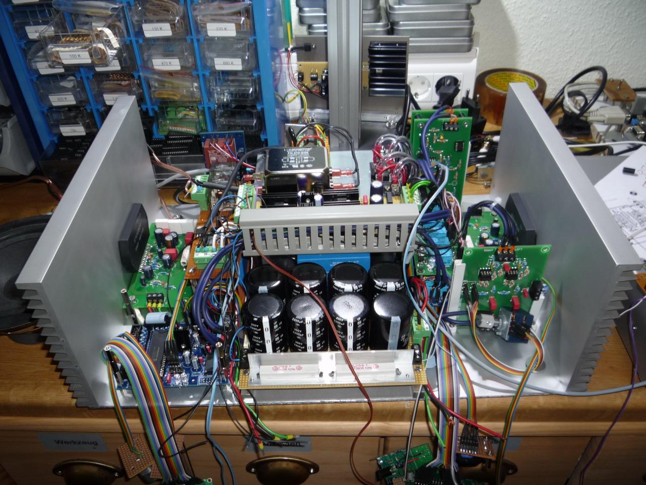 Projekt Mein Wohnzimmerverstrker Stk4050 Audio Amplifier With 200w Output Amp7