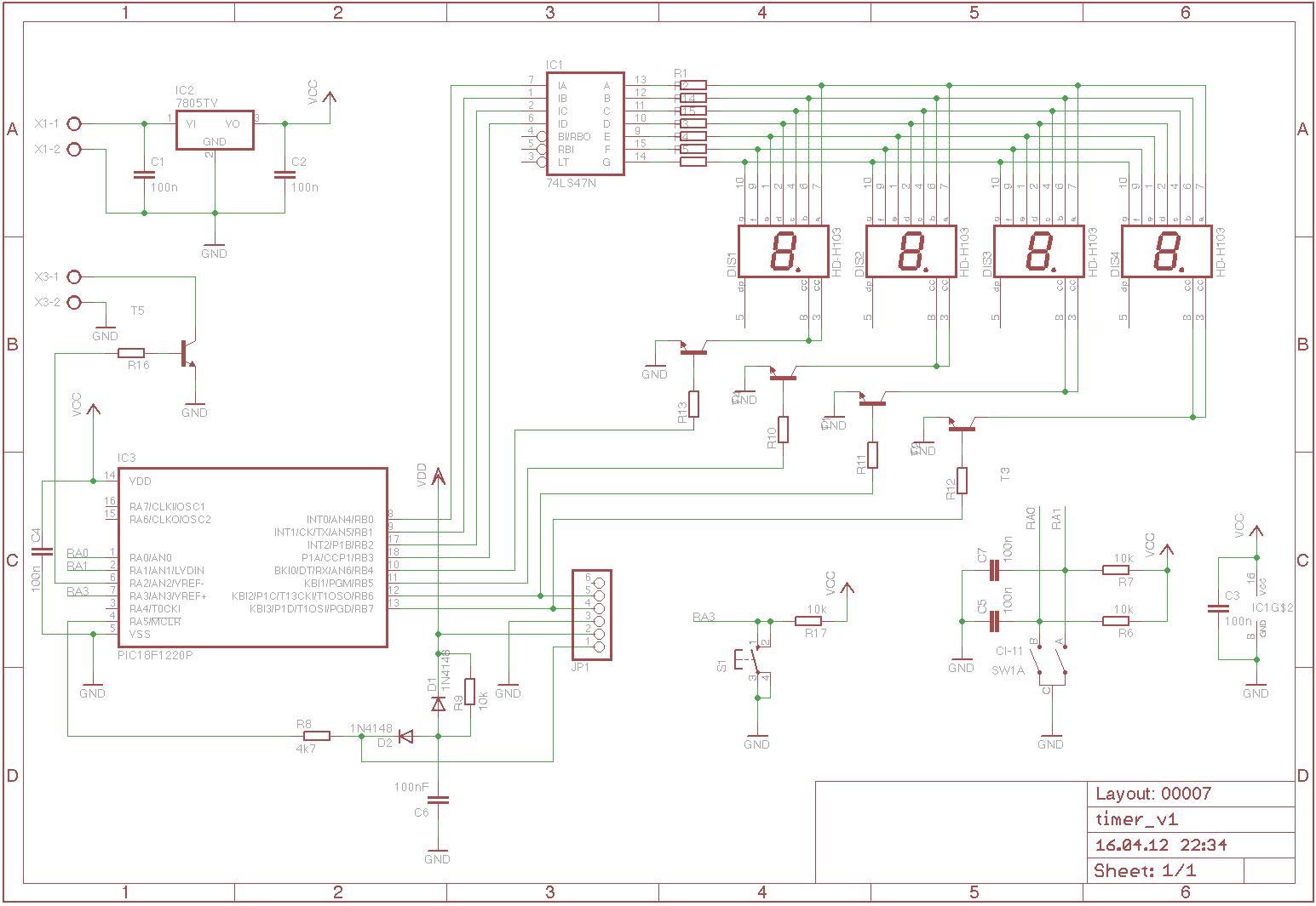 Timer Platine - Mikrocontroller.net
