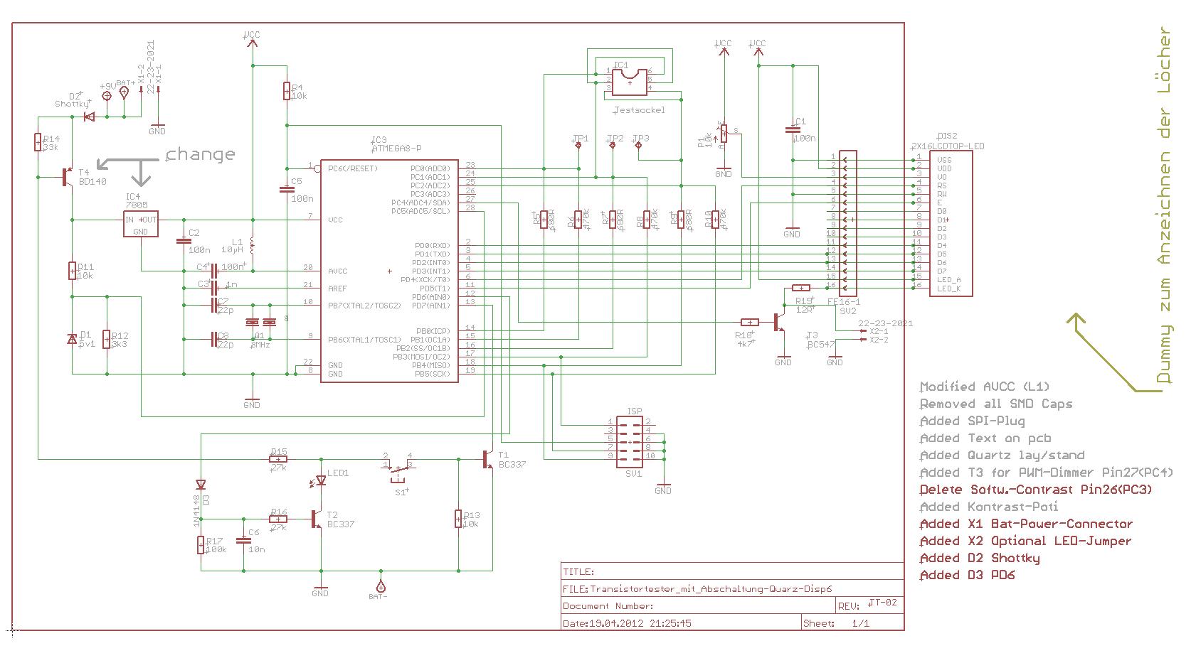 Транзистор тестер на atmega8 своими руками