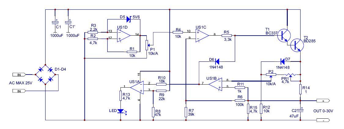 Einfaches Labornetzteil - Mikrocontroller.net