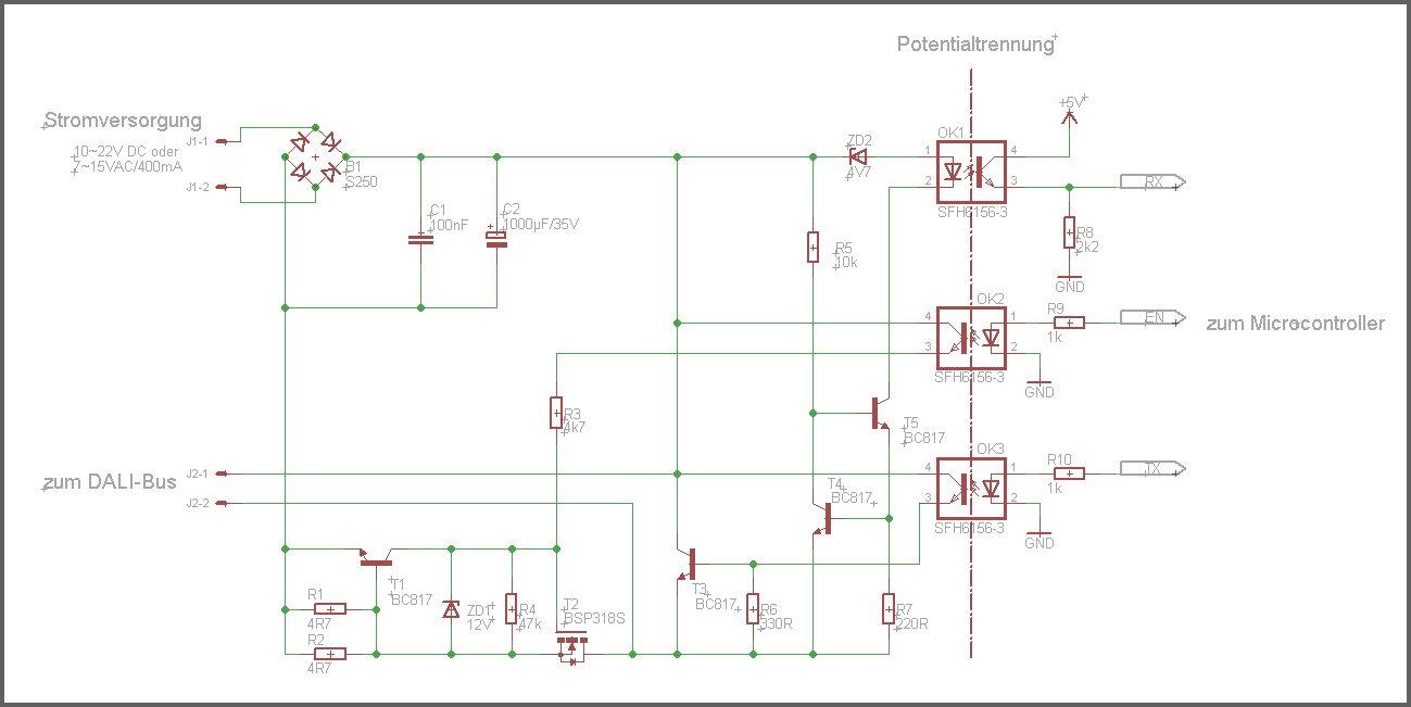 DALI Interface für AVR und PIC - Mikrocontroller.net