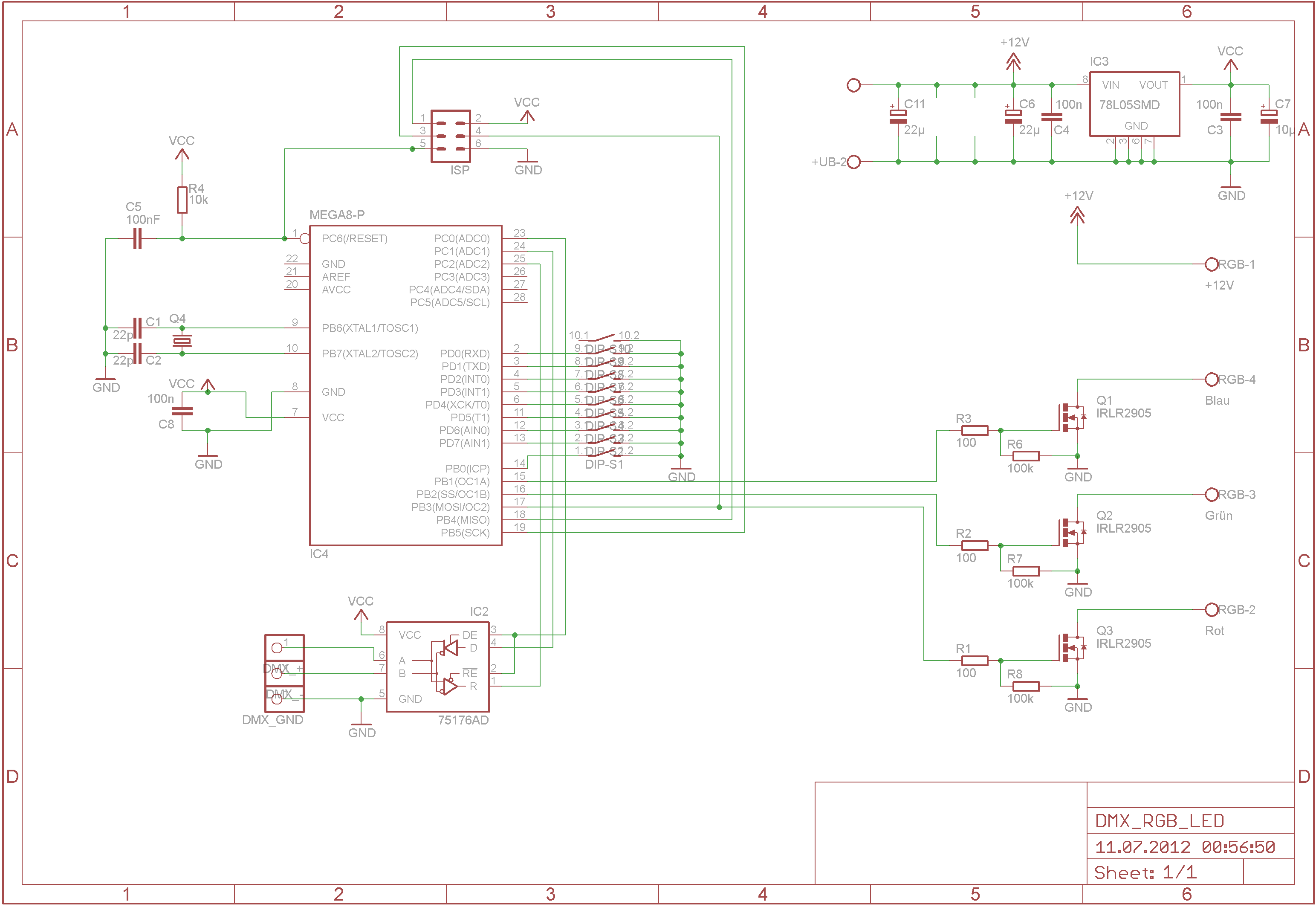 Led Dmx Wiring Diagram Not Lossing 5 Pin Steuerbaren Rgb Par Oder Pinnspot Selber Bauen 3 A Wire