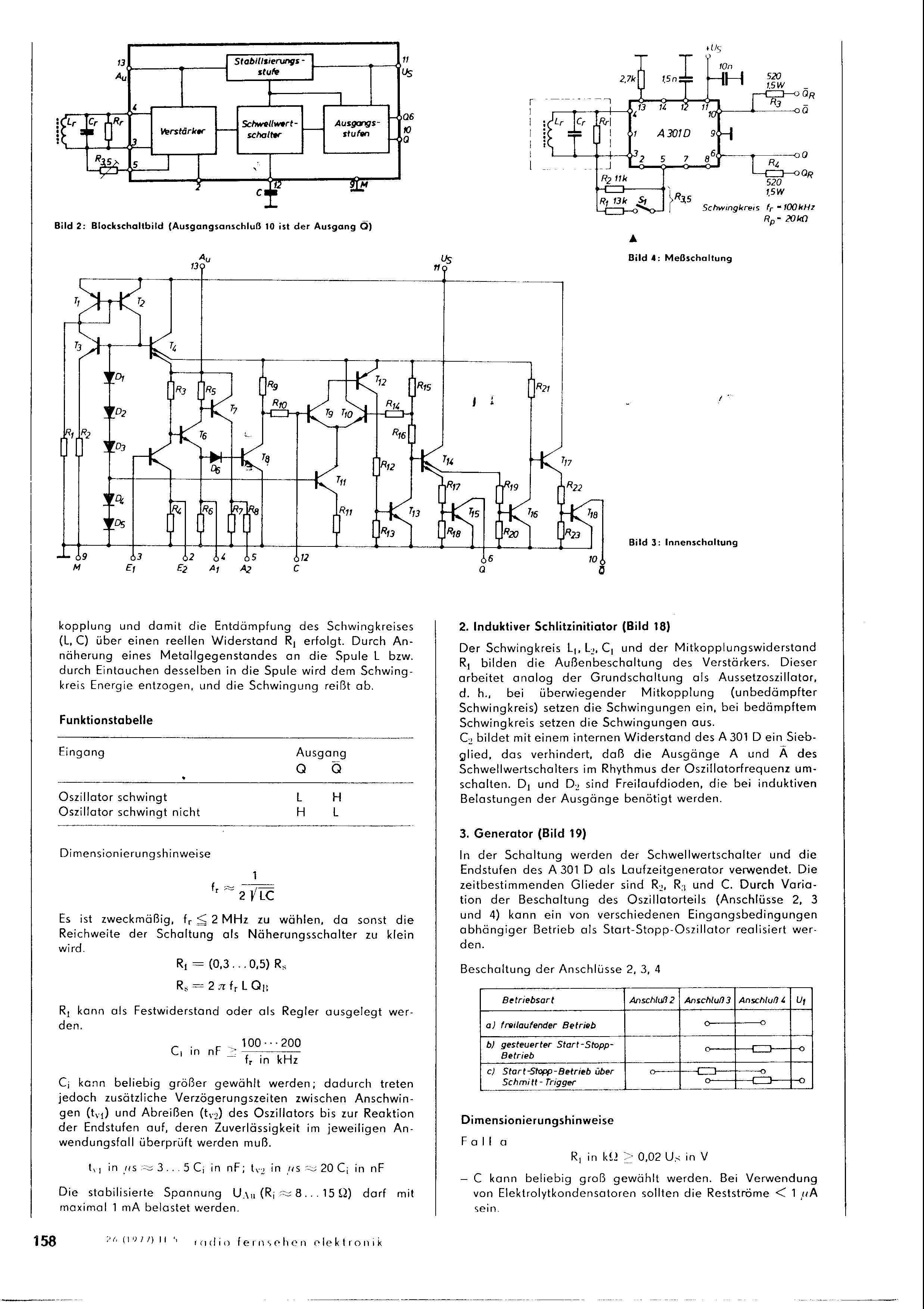 S] DDR IC A301D sowie Schaltplan für DDR Weidezaungerät ...
