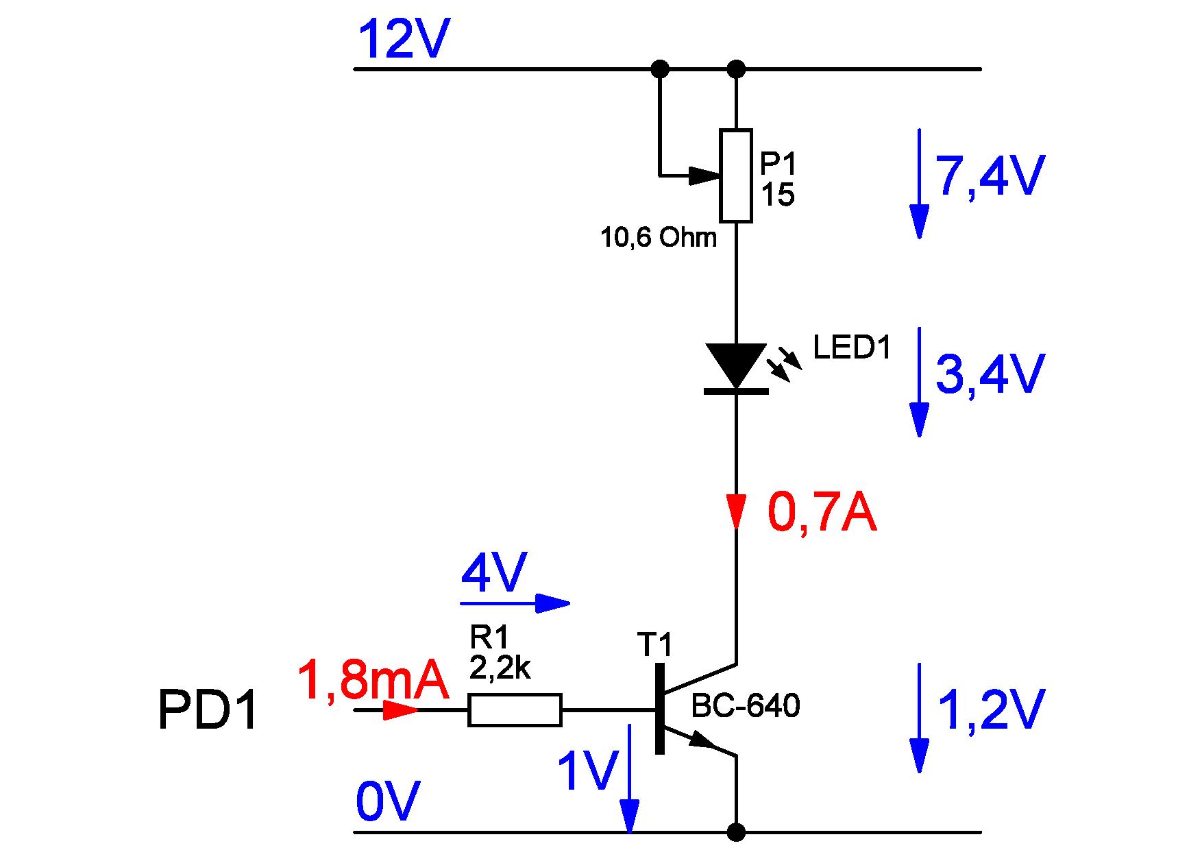 led- schaltung bc640 pwm