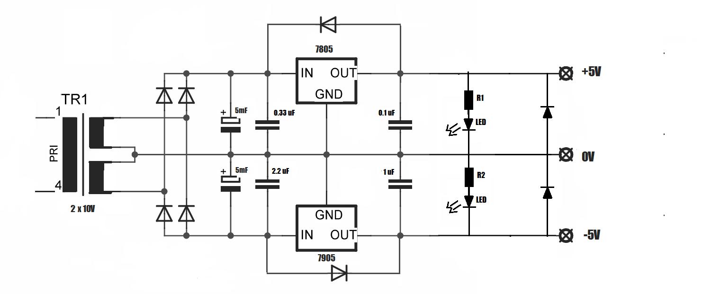 Netzteil 5 Volt 7805 7905 Mikrocontroller Net