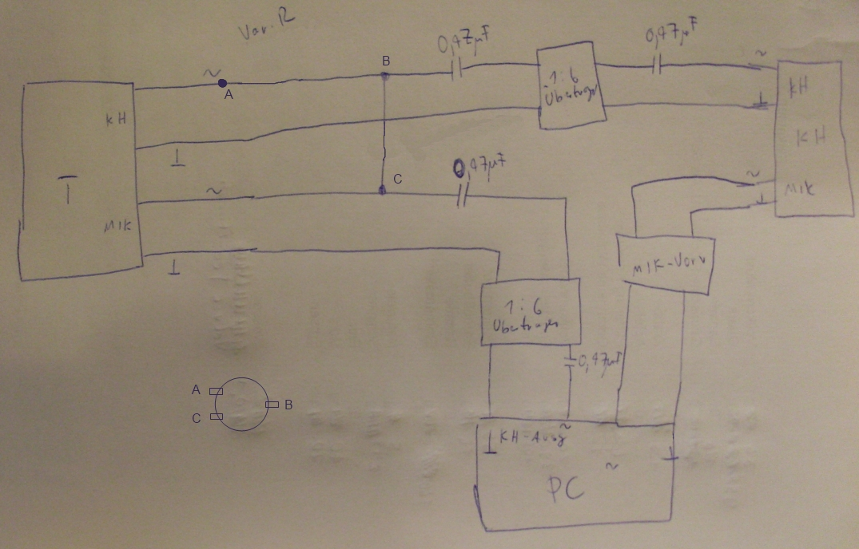 Soundkarte mit Telefon verbinden - Mikrocontroller.net