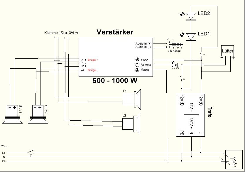 Schaltung Verstärker - Mikrocontroller.net