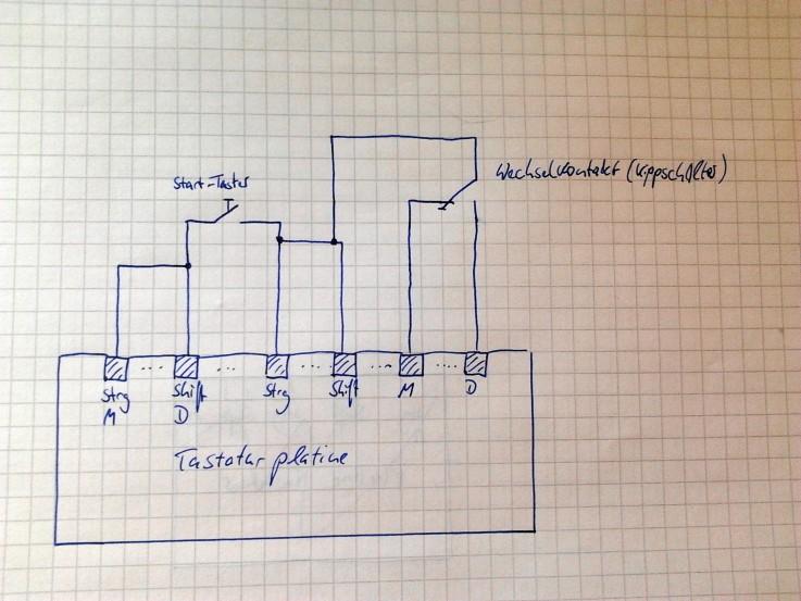 Selbstgebauter USB Taster aus Tastatur - Mikrocontroller.net