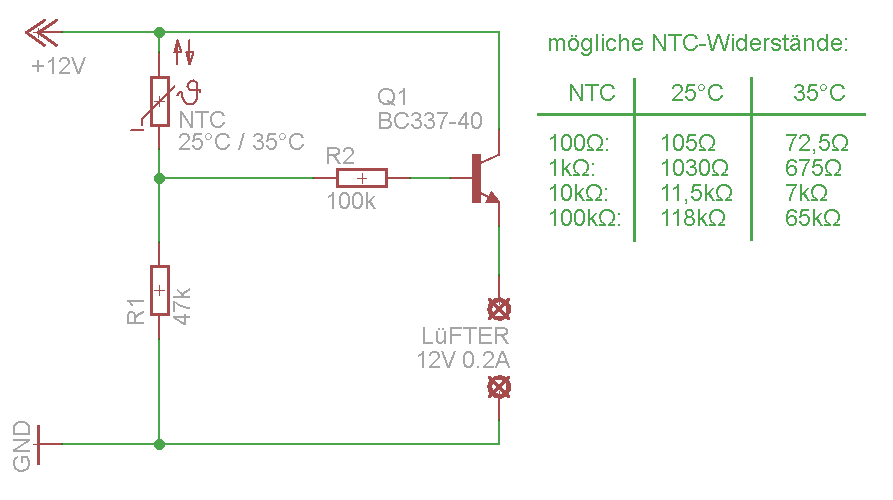 Lüfterdrehzahl mittels NTC regeln - Mikrocontroller.net