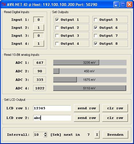 GUI für AVR-NET-IO mit Python 3 2 und Tkinter/Grid-Manager