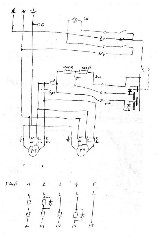 Schaltung Motor mehrstufig - Mikrocontroller.net