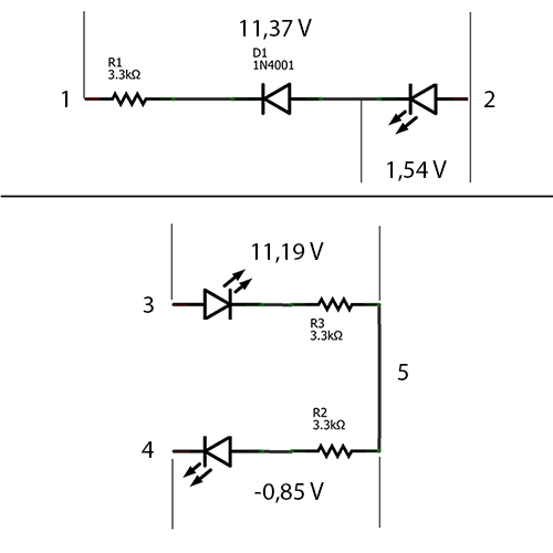 optokoppler 4n35 parallel zu led