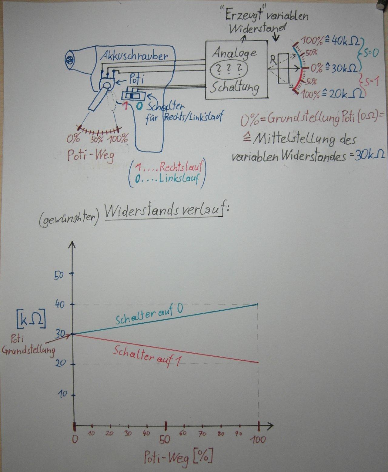 2-Wege Widerstandssteuerung mit nur einem Poti - Mikrocontroller.net